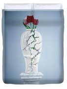 Cracked Urn Duvet Cover by Lincoln Seligman
