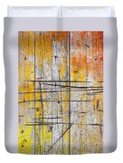 Cracked Wood Background Duvet Cover by Carlos Caetano