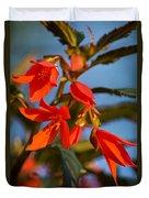 Crackling Fire Begonia Duvet Cover