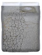Cracks Among My Shoes Duvet Cover