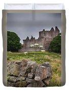 Craigmillar Castle Ruin Duvet Cover