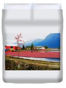 Cranberry Field Workers Duvet Cover