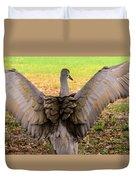 Crane Spreading Wings Duvet Cover