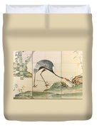 Cranes Pines And Bamboo Duvet Cover
