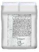 Cranmer Declaration, 1537 Duvet Cover