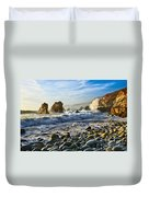 Crash - Waves From Soberanes Point In Garrapata State Park In California. Duvet Cover