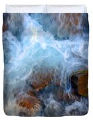 Crashing Falls On Rocks Below Duvet Cover