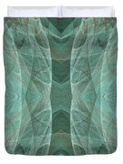 Crashing Waves Of Green 4 - Square - Abstract - Fractal Art Duvet Cover