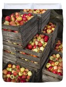 Crated Apples Duvet Cover
