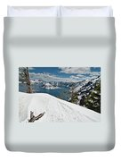 Crater Lake And Wizard Island In June Duvet Cover