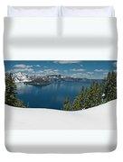 Crater Lake Panorama Duvet Cover