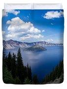 Crater Lake Pnorama - 2 Duvet Cover