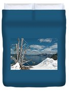 Crater Lake Tree Duvet Cover