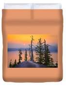 Crater Lake Trees Duvet Cover by Inge Johnsson