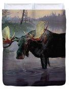 Craven Moose Duvet Cover
