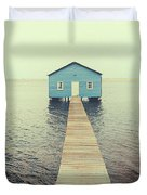 Crawley Edge Boatshed Duvet Cover by Yew Kwang