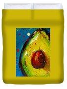 Crazy Avocado 4 - Modern Art Duvet Cover