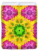 Crazy Daises - Spring Flowers - Bouquet - Gerber Daisy Wanna Be - Kaleidoscope 1 Duvet Cover
