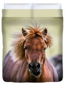 Crazy Mane Duvet Cover