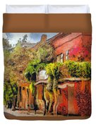Crazy Whimsy Wacky New Orleans Duvet Cover by Christine Till