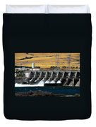 The Dalles Dam Duvet Cover