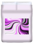 Creamy Pink Graphic Duvet Cover