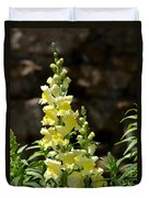 Creamy Yellow Snapdragon Duvet Cover