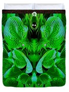 Creatures In The Green Fauna Duvet Cover