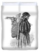 Cree Indian Squaw And Papoose Duvet Cover