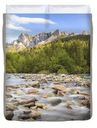 Creek And Castle Crags Duvet Cover