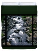Creek Flow Polyptych Duvet Cover