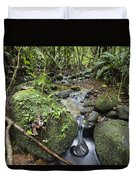 Creek In Mountain Rainforest Costa Rica Duvet Cover