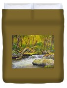 Creek In The Forest Duvet Cover