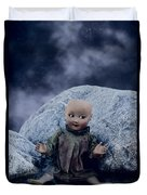Creepy Doll Duvet Cover
