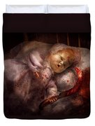 Creepy - Doll - Night Terrors Duvet Cover