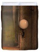 Creepy Door Knob Of Abandoned House Duvet Cover