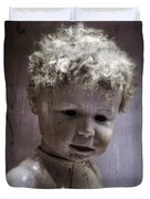 Creepy Old Doll Duvet Cover