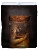 Creepy - Tonight We Eat Snake  Duvet Cover by Mike Savad