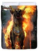 Balinese Burning Bull  Duvet Cover