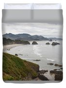 Crescent Bay At Cannon Beach Oregon Coast Duvet Cover