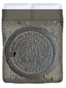 Crescent City Water Meter Duvet Cover