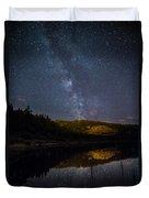Crescent Lake Midnight Duvet Cover