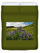 Crested Butte Lupines Duvet Cover