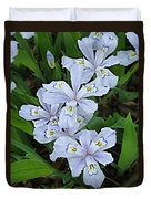 Wild Blue Crested Iris Duvet Cover