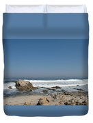 Crestwaves On A California Beach Duvet Cover