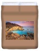 Cretan Coastline. Duvet Cover