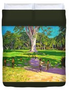 Cricket Match St George Granada Duvet Cover by Andrew Macara