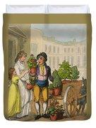 Cries Of London The Garden Pot Seller Duvet Cover