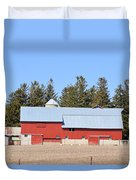 Crimson Barn Duvet Cover