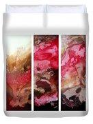 Crimson Cream Original Painting Madart Duvet Cover